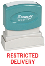 Xstamper 1519 Restricted Delivery