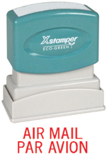 Xstamper 1521 Air Mail Par Avion