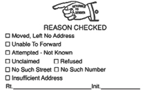 289 Multi-Reason Stamp - Black Ink