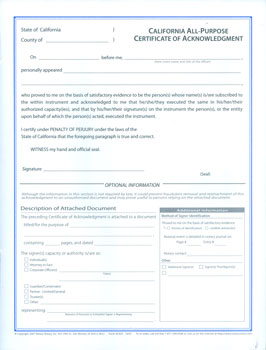 PURPOSE ACKNOWLEDGEMENT FORMS