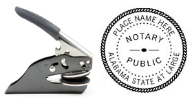 Hand Held E-Z Seal Alabama Notary Embosser