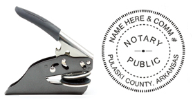 Hand Held E-Z Seal Arkansas Notary Embosser