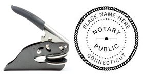 Hand Held E-Z Seal Connecticut Notary Embosser