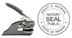 Hand Held E-Z Seal Indiana Notary Embosser
