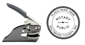 Hand Held E-Z Seal Maryland Notary Embosser