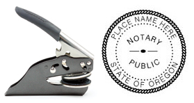 Hand Held E-Z Seal Oregon Notary Embosser