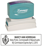 N14 Massachusetts Notary Stamp