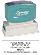 N14 Maine Notary Stamp