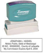 N14 Mississippi Notary Stamp