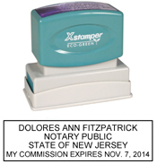 N14 New Jersey Notary Stamp