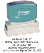 N14 New York Notary Stamp