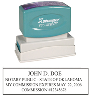 N14 Oklahoma Notary Stamp