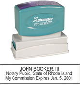 N14 Rhode Island Notary Stamp