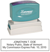 N14 Vermont Notary Stamp