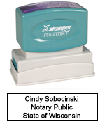 N14 Wisconsin Notary Stamp