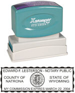 N14 Wyoming Notary Stamp