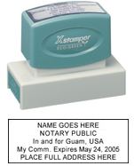N18 Guam Notary Stamp