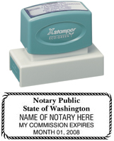N18 Washington Notary Stamp