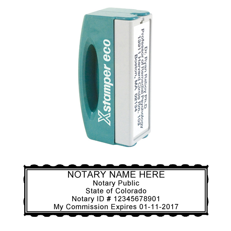 xstamperonline N42 Colorado Pocket Notary Stamp