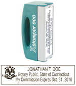 N42 Connecticut Pocket Notary Stamp