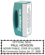 N42 Illinois Pocket Notary Stamp