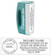 N42 Montana Pocket Notary Stamp