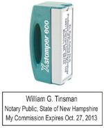 N42 New Hampshire Pocket Notary Stamp