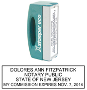 N42 New Jersey Pocket Notary Stamp