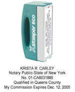 N42 New York Pocket Notary Stamp