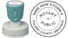 N53 Round Arkansas Notary Stamp