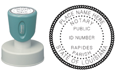 N53 Round Louisiana Notary Stamp