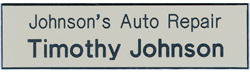 "J11 Standard Name Badge 3/4"" x 3"""