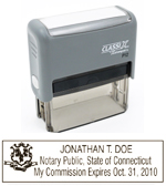 P12 Self-Inking Stamp Connecticut Notary