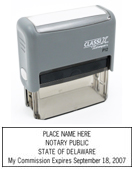 P12 Self-Inking Stamp Delaware Notary