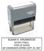 P12 Self-Inking Stamp Hawaii Notary