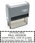 P12 Self-Inking Stamp Illinois Notary
