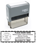 P12 Self-Inking Stamp Indiana Notary