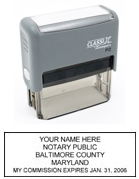 P12 Self-Inking Stamp Maryland Notary