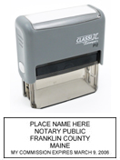P12 Self-Inking Stamp Maine Notary