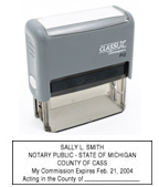 P12 Self-Inking Stamp Michigan Notary