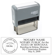 P12 Self-Inking Stamp Montana Notary