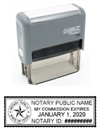 P12 Self-Inking Stamp Texas Notary