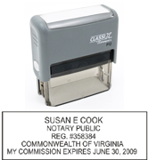 P12 Self-Inking Stamp Virginia Notary