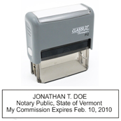 P12 Self-Inking Stamp Vermont Notary