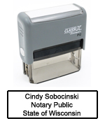 P12 Self-Inking Stamp Wisconsin Notary