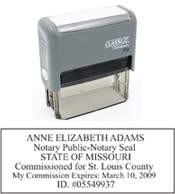 P13 Self-Inking Stamp Missouri Notary