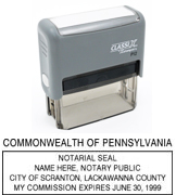 P13 Self-Inking Stamp Pennsylvania Notary
