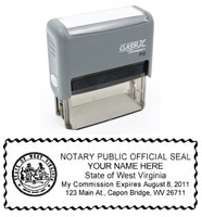 P13 Self-Inking Stamp West Virginia Notary