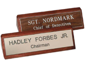 Desk Signs & Engraved Name Signs