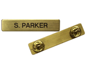 Engraved Name Badge & Plain Name Badge